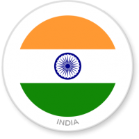 Flag Sticker - India