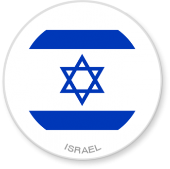 Flag Sticker - Israel