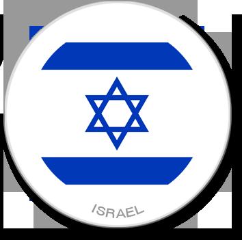 Flag Sticker - Israel