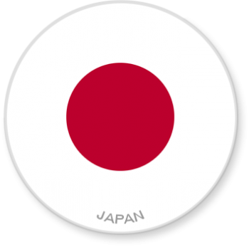 Flag Sticker - Japan