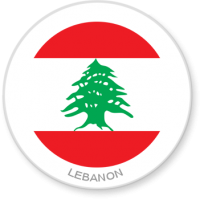 Flag Sticker - Lebanon