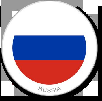 Flag Sticker - Russia