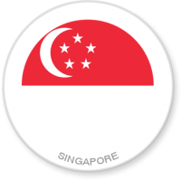 Flag Sticker - Singapore