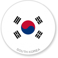Flag Sticker - South Korea
