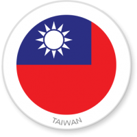 Flag Sticker - Taiwan