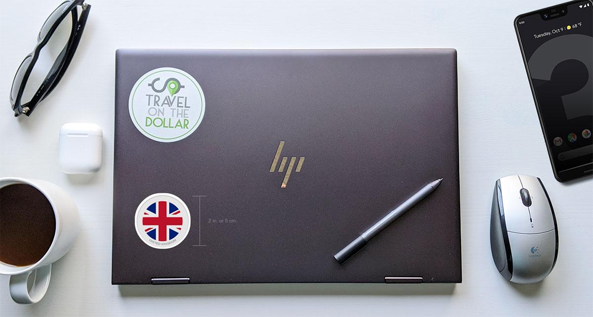 Flag Sticker - UK on a laptop
