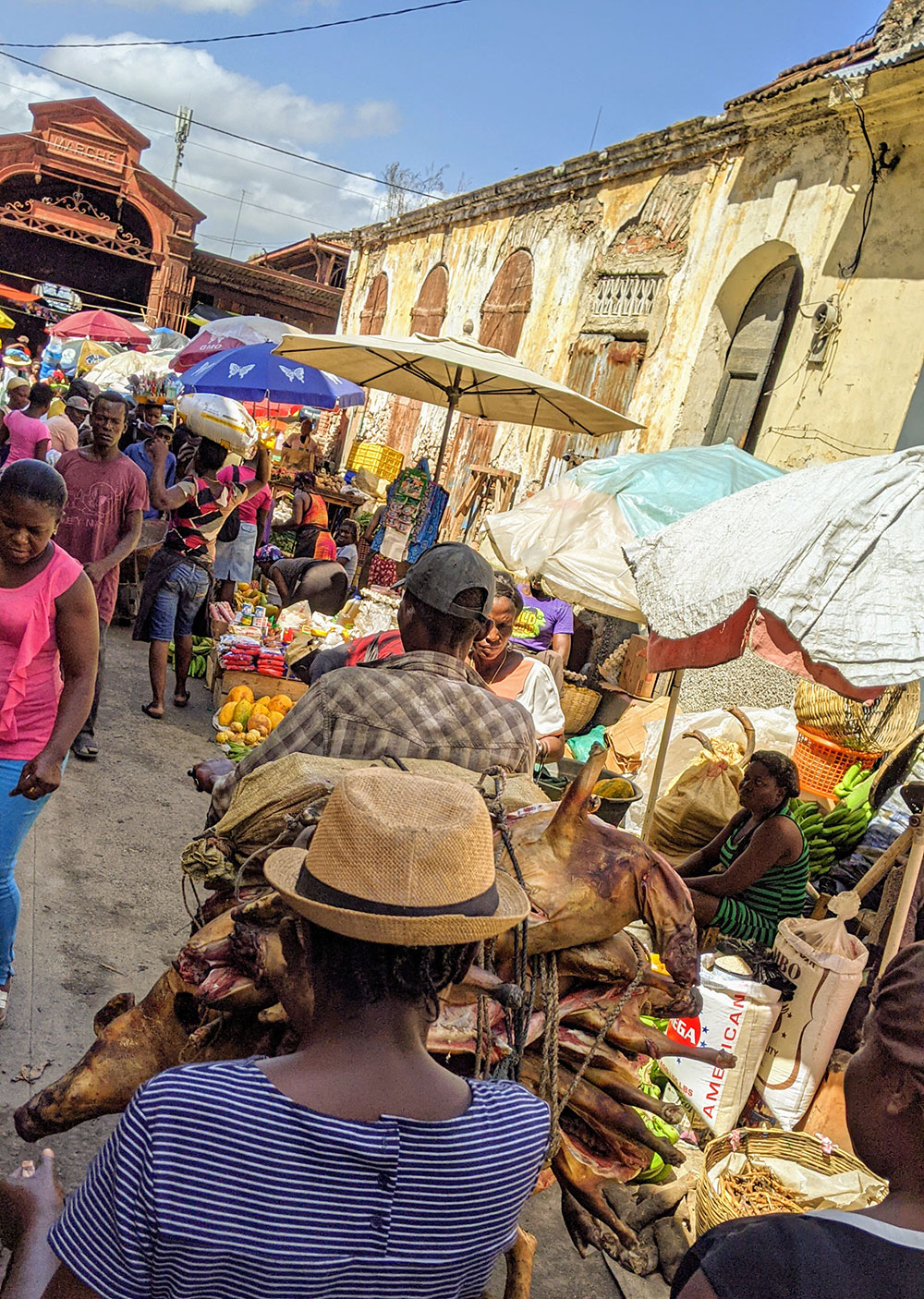 Outside of Marché Cluny Cap-Haitien