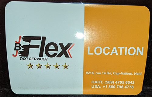 Flex Taxi service in Cap-Haitien