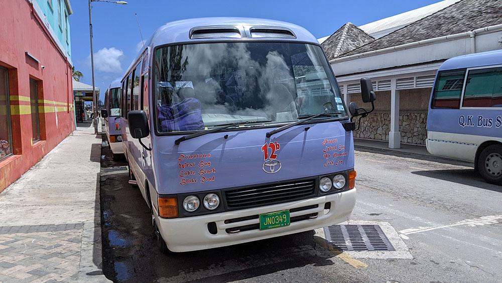 Jitney or mini-buses in Nassau, The Bahamas