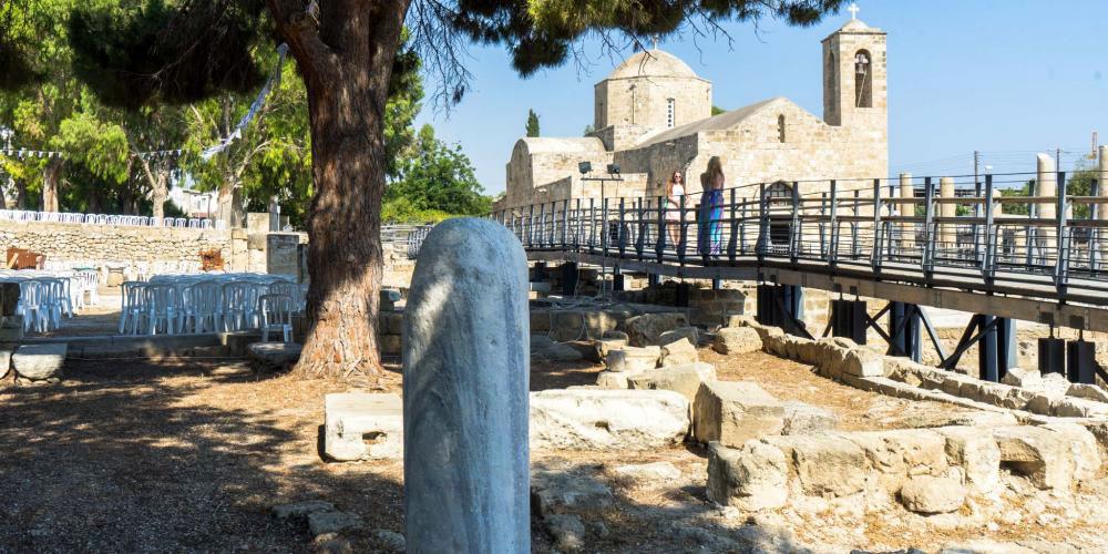 St. Paul's Pillar at Chrysopolitissa Basilica