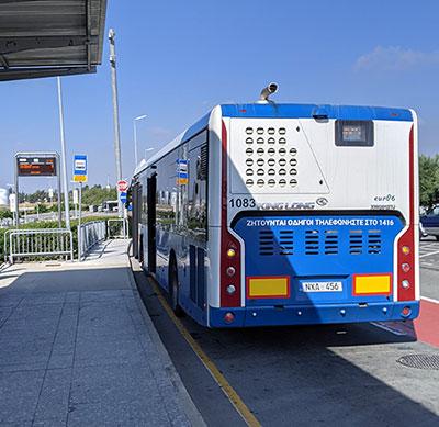 Bus 428 at Larnaca airport
