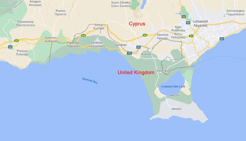 British SBA territory in Cyprus