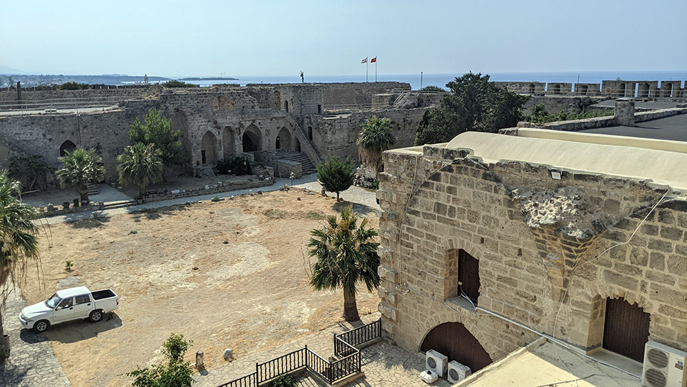 View of western wall from the rampart