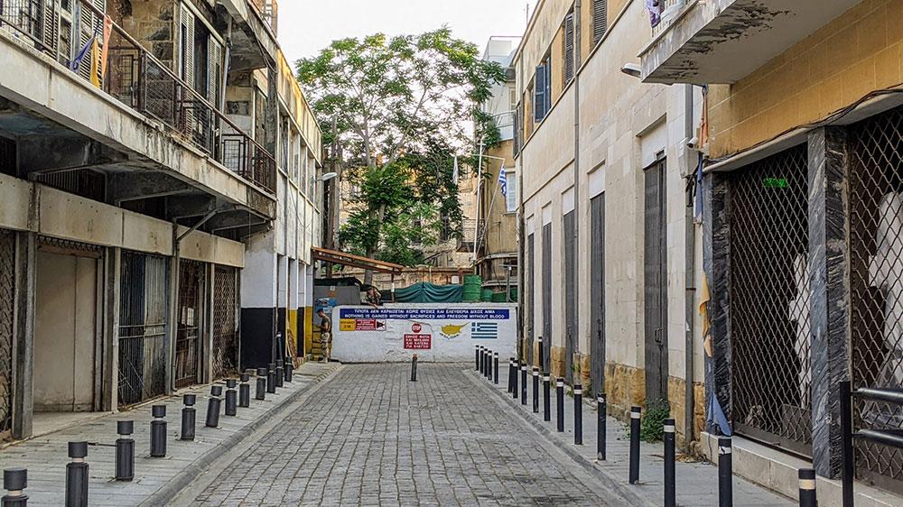 UN-monitored buffer zone blockade, Nicosia