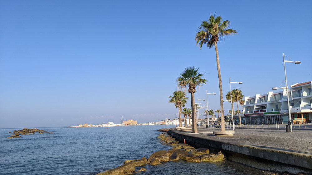 Paphos corniche, Cyprus
