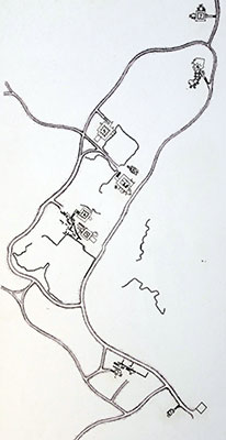 Map of Tombs of the Kings in Paphos, Cyprus