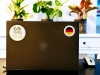 Flag Sticker - Germany on a laptop