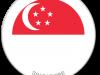 Flag Sticker of Singapore