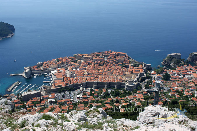 View of Old Town Dubrovnik from Cable Car station