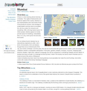 Travelomy - Overview Page