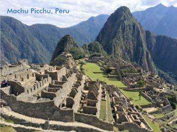 Postcard of Machu Picchu, Peru