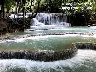 Postcard of Kuang-si Waterfalls, Laos