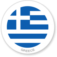 Flag Sticker - Greece