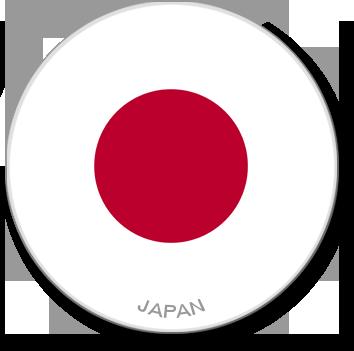 Flag Sticker - Japan