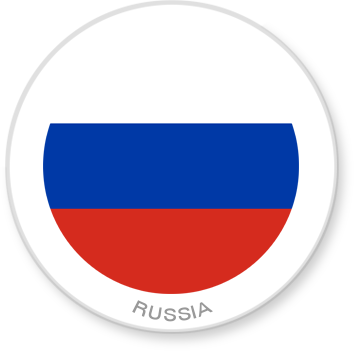 Flag Sticker - Russia