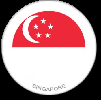 Flag Sticker - Singapore