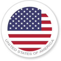 United States of America Flag Sticker for laptops