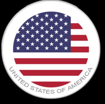 United States of America Flag Sticker for laptops